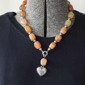Brighton Carnelian stone necklace